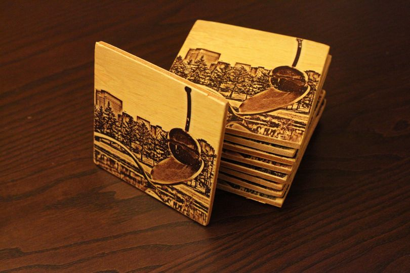 Coasters can be customized with any photo.  They make great groomsmen gifts, wedding favors, or...
