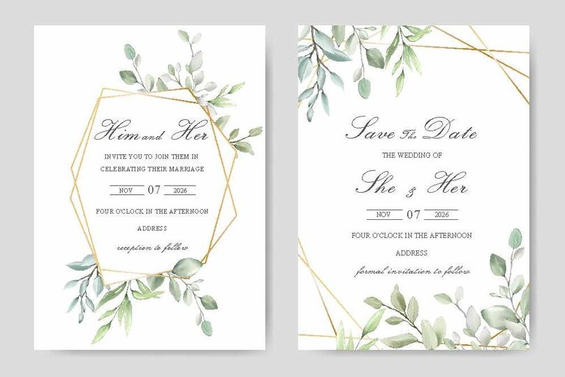 Invitation to fit any style or
