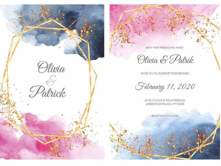 Tmx 14377 Wedding Invites Page 09 51 1945253 159104168843406 Castle Rock, CO wedding invitation