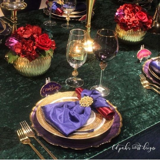 Table setting with Agate place