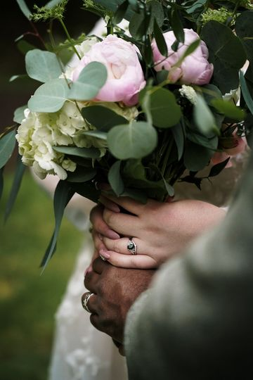 Bride/Groom holding Bouquet