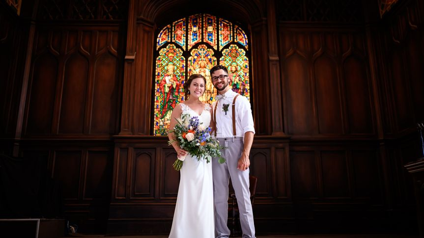 Couple after ceremony