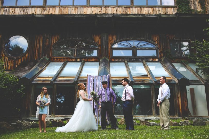 Secluded cabin wedding