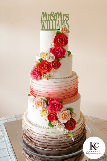 Red roses cascading