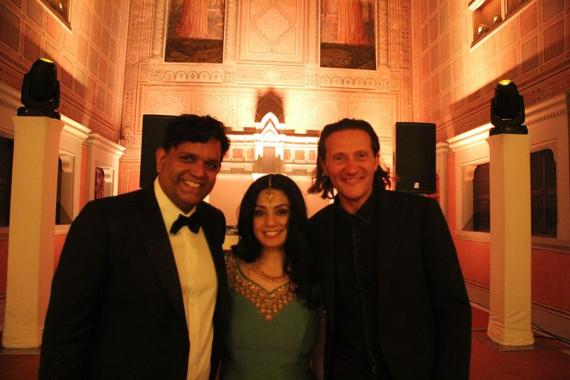Dj Roberto with Indian American Bride & Groom