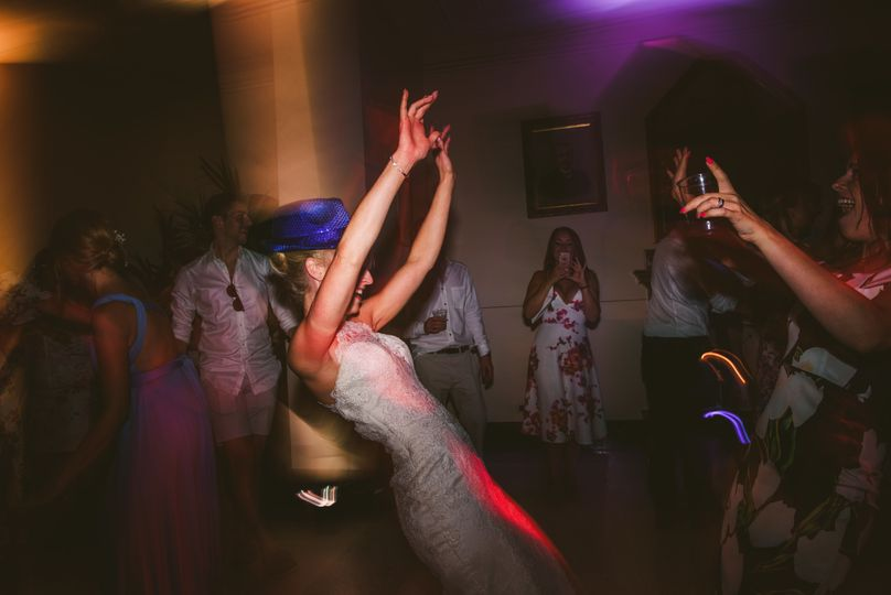 UK Bride raving on Dancefloor