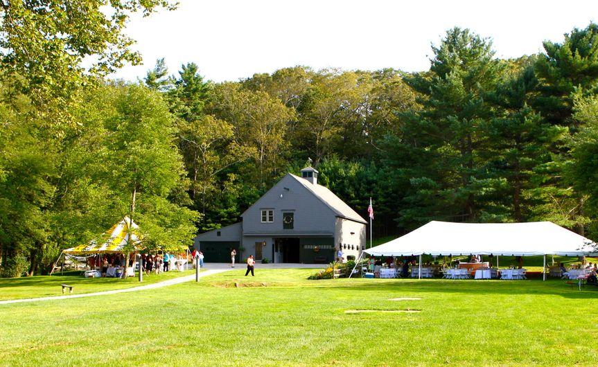 Venue and tent exterior
