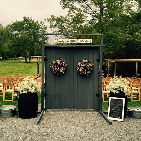 Doorway to the ceremony