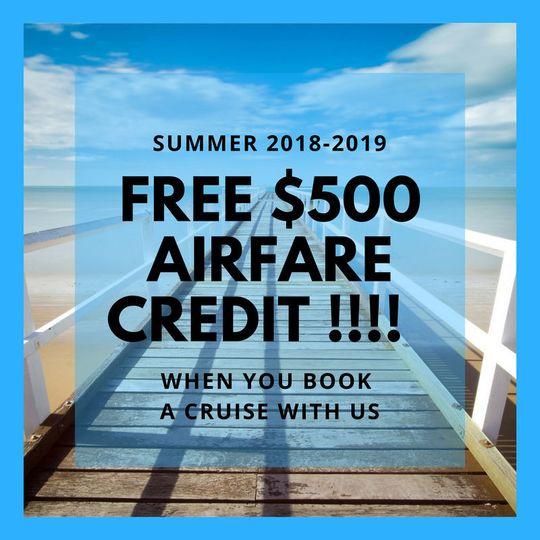 5ae378fccb9b345c free 500 airfare credit when