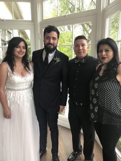 Post-ceremony photo op