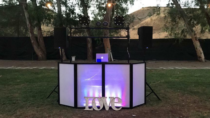 Outdoor booth setup and lighting