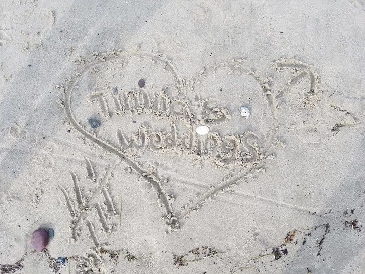 Sand writting