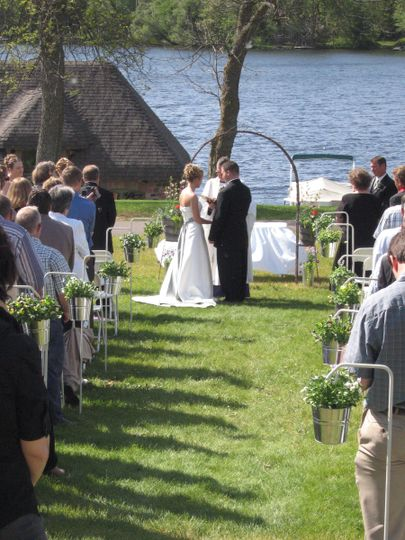 lawn bride groo