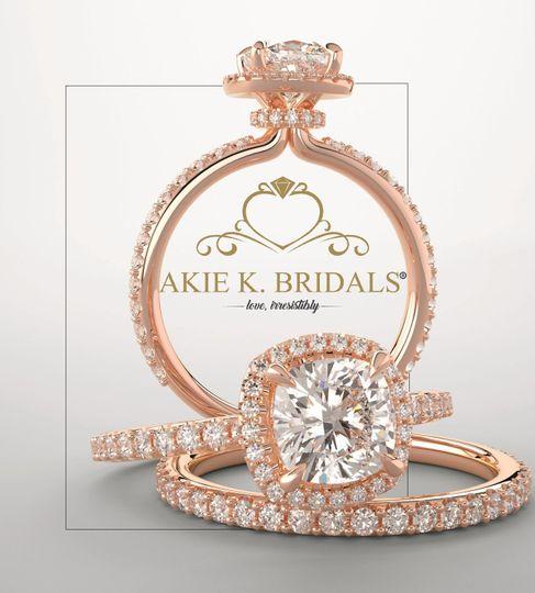 Akie k designer bridal rings