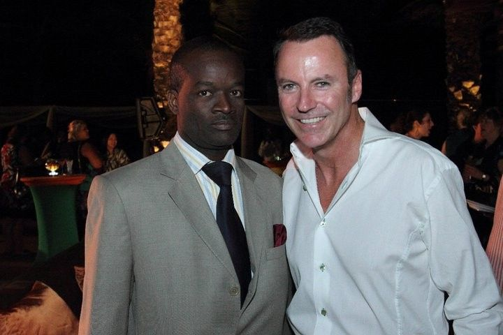 Glenn Ferguson, Bahamas wedding Officiant & Planner hanging out with celebrity planner Colin Cowie...