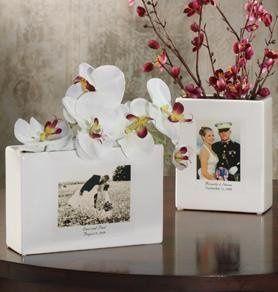 Wedding Custom Ceramic Photo Vase
