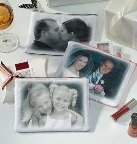 Wedding Custom Photo Makeup Bag