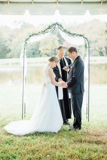 This was such a sweet waterfront ceremony.