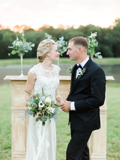 We loved the mantel as the focal point for this waterfront ceremony.