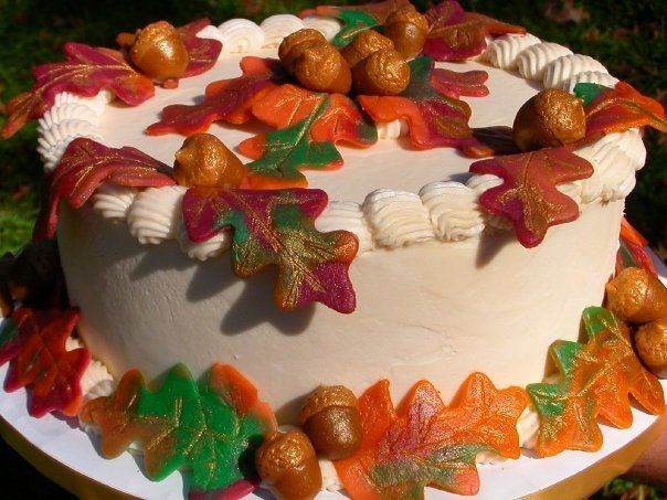 Tmx 1529428439 E245025e910144a3 1529428438 62205dbd15388df3 1529428458583 7 Marzipan Leaves An Asheville, North Carolina wedding cake