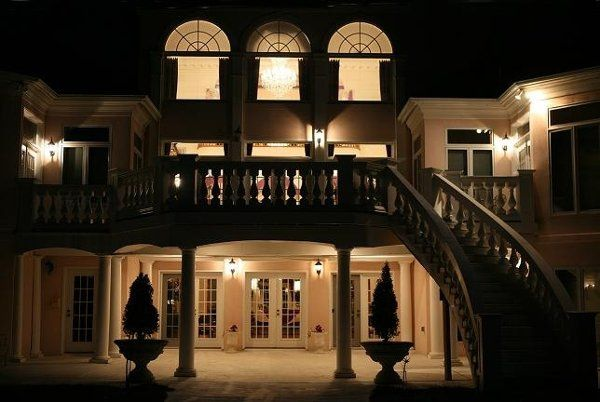 The Manor at night.