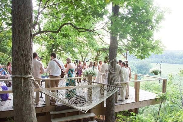 Ceremony deck with views