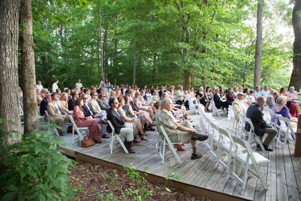 Guests at ceremony deck