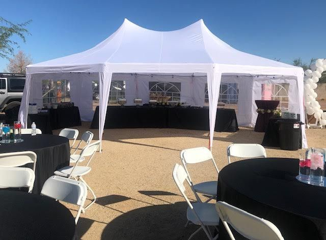 29x21 party tent VIP package