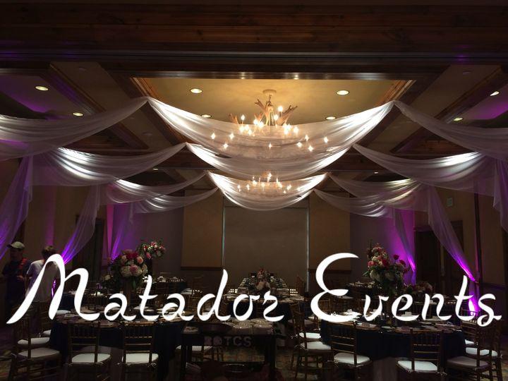 ceiling drape uplights matadorevents