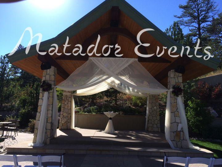 cielo at castle pines ceremony drape matadorevents