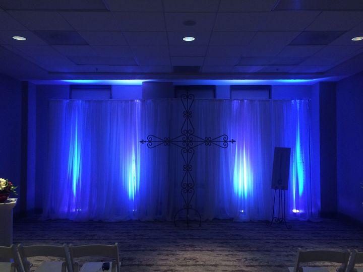 Blue wall lights