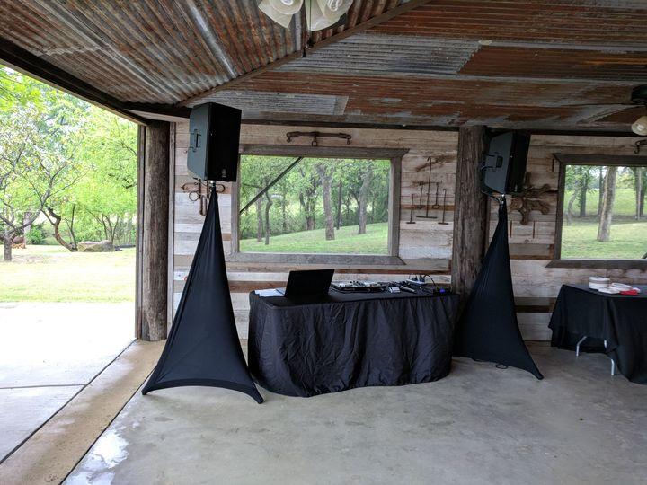 Open-air setup