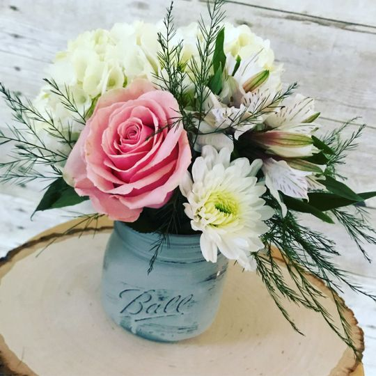Dainty flowers in vase