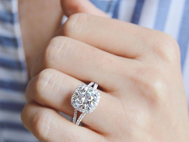 Tmx 1537894337 28b0db5cdcab5811 1537894336 1cb4727d053a5b21 1537894334572 1 Cushion Halo Split Addison, TX wedding jewelry