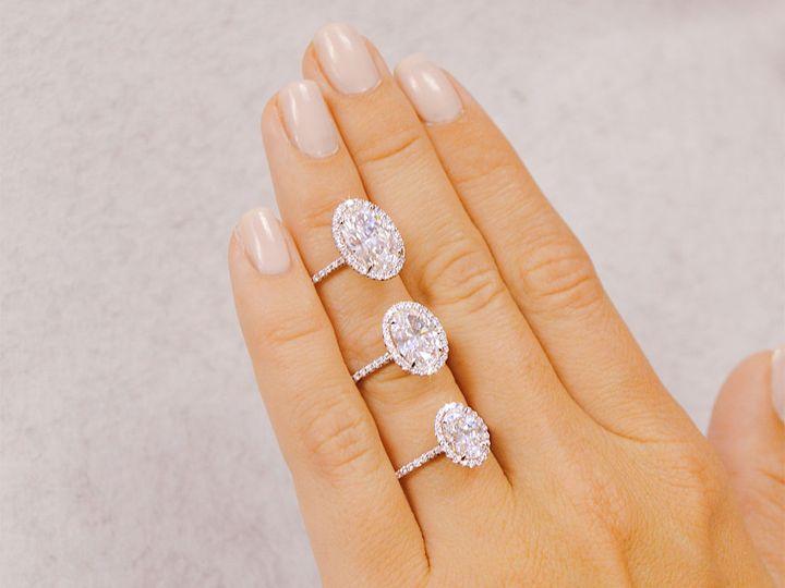 Tmx 1537894338 979aea7b53f681de 1537894337 9bf520a433c50e3b 1537894334577 4 Oval Cut Diamond H Addison, TX wedding jewelry