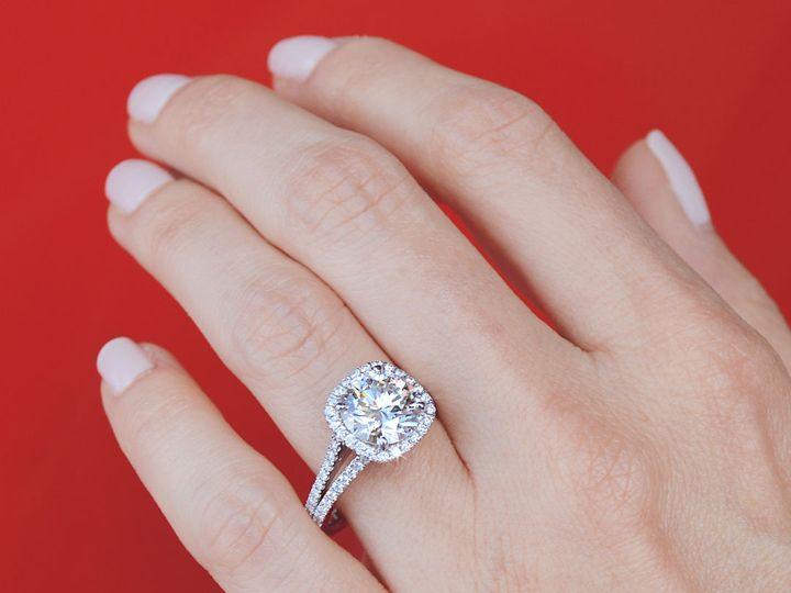Tmx 1537894793 B5857f9084797697 1537894790 7bb8dbcbb4eaafd1 1537894790236 2 Cushion Shaped Hal Addison, TX wedding jewelry