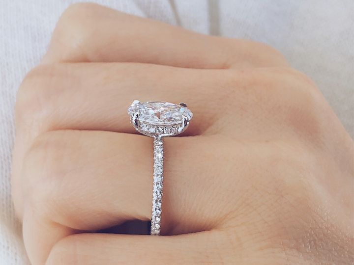 Tmx 2 06 Carat Oval Cut Diamond Hidden Halo Engagement Ring By Ascot Diamonds 51 187353 1559080124 Addison, TX wedding jewelry