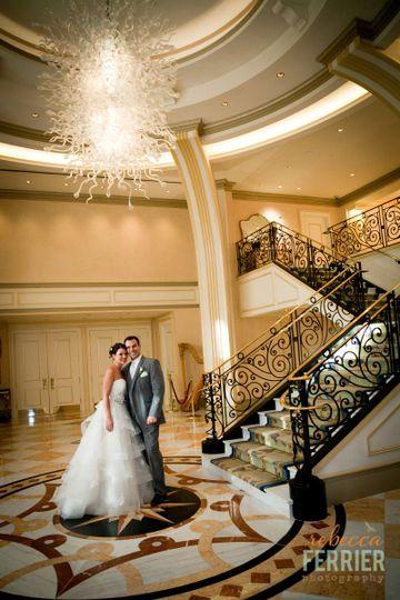 A rustic elegant wedding in a modern reception venue