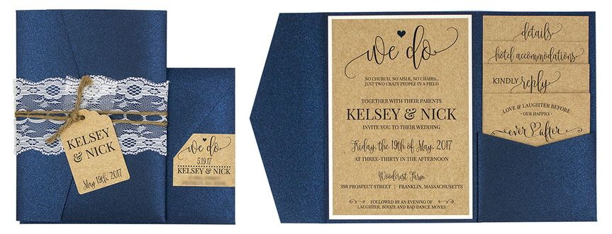 Pocket fold invitation