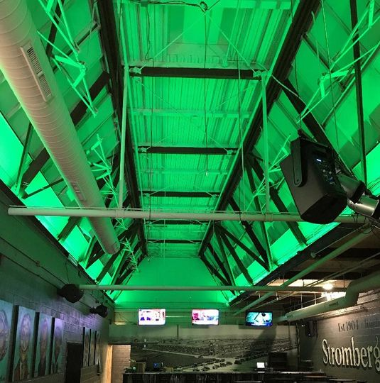 Color-changing ceiling to match your event