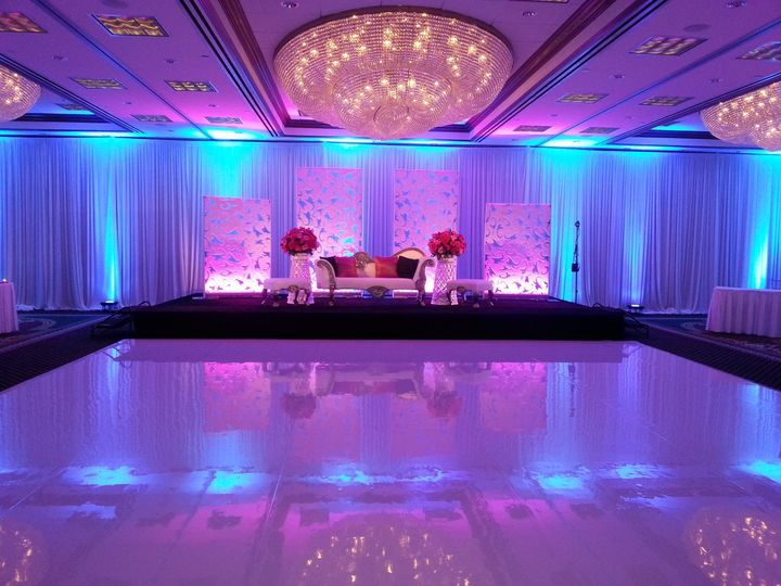 stage setup with uplighting