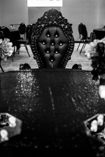 Midnight Black Throne Chair