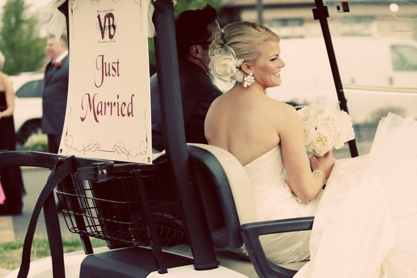 vb just married sign