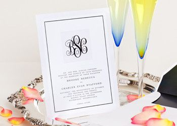 Wedding Style W-5001 is a simply elegant high end layered invitation. Your beautiful monogram is...