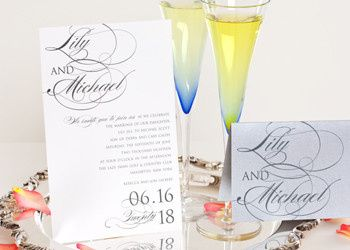 Wedding Style W-5015 is an elegant design that is enhance in its use of creative typefaces. The...