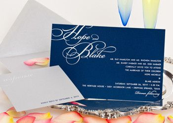 Wedding style W-5012 is a great design for Brides who like a darker paper. What makes this design...