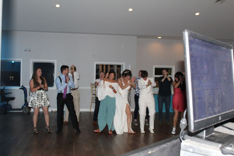 On the dance floor
