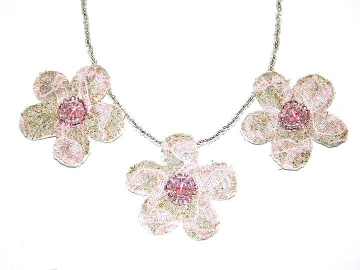Tmx 1398806803937 Triple Flower Necklac Wynnewood wedding jewelry
