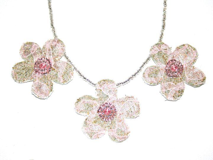 Tmx 1398806803937 Triple Flower Necklac Wynnewood wedding jewelry