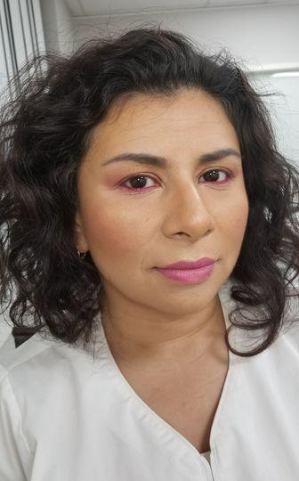 A pink lip